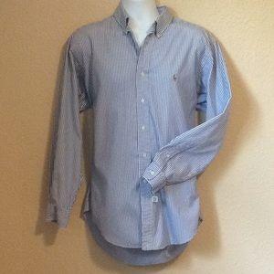 Ralph Lauren men's Yarmouth Blue label shirt Large
